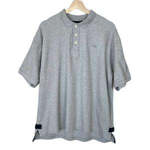 Orvis Large Mens 100% Cotton Short Sleeve Polo Shirt Grey